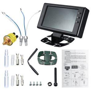 8V-18V 12V 6 in 1 LCD Digital Gauge Oil Pressure Voltage Water Oil Temperature Tachometer RPM Car