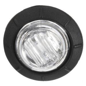 4pcs 12V/24V Green Mini Round LED Button Side Marker Lights Lamps Truck Trailer