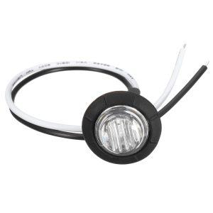 10pcs Mini 12/24V Green Round LED Button Side Marker Lights Lamps Trailer