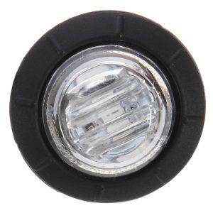 4pcs 12V/24V Blue Mini Round LED Button Side Marker Lights Lamps Truck Trailer