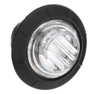 10pcs Mini 12/24V Blue Round LED Button Side Marker Lights Lamps Trailer