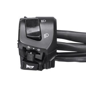 "12V Motorcycle 7/8 Handlebar Horn Turn Signal Headlight Electrical Start Switch Double Throttle"""