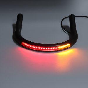 215mm Upswept FlatBlack Cafe Racer Seat Frame Hoop Brat Loop LED Brake Turn Singal Lights