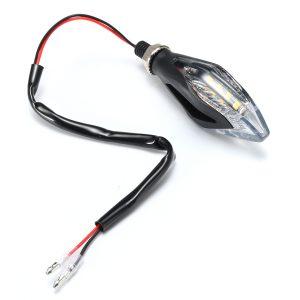 12V 8LED Universal Motorcycle Bike Amber LED Turn Signal Indicator Blinker Lights