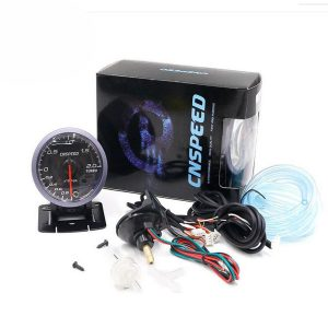 12V 2.5inch 60MM Car Auto Racing LED Turbo Boost Gauge Vacuum Pressure Bar Meter
