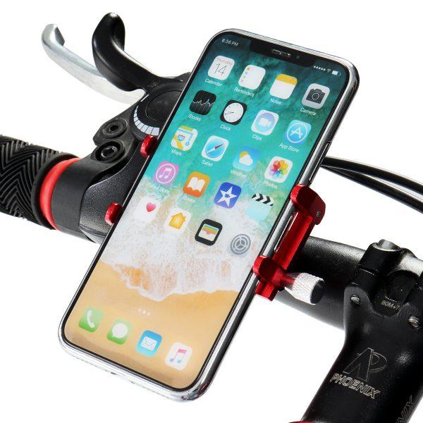 Aluminum Alloy Motorcycle Bike Bicycle MTB Handlebar Phone GPS Holder Stem Mount