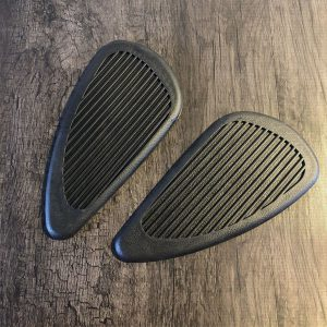 Pair Motorcycle Cafe Gas Fuel Oil Tank Pad Rubber Protector Decal Sticker Universal