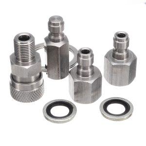 6pcs/Set Quick Coupler Filling + Charging Adaptor Complete Kit Tools For Airguns