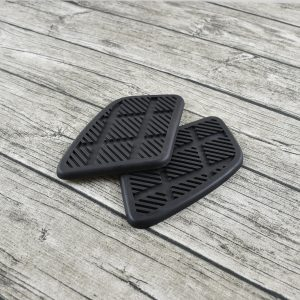 Pair Motorcycle Rubber Fuel Tank Pad Protector Decal Sticker Universal