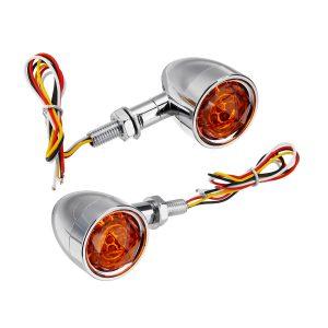 12V Universal Motorcycle Bullet Turn Signal Indicator Brake Runnning Lights 4 Wire