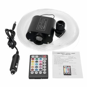 12W RGBW LED Fiber Optic Star Ceiling Light Source Device 150Pcs 2M 0.75mm + 28Key RF Remote
