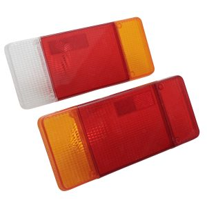 2Pcs Rear Tail Lights Turn Signal Lamps Lenes Covers Plastic Left Right For Iveco