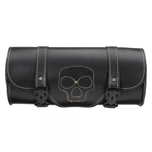 Universal PU Leather Motorcycle Hanging Side Box Bag Tool Tank Bag Luggage Saddlebags