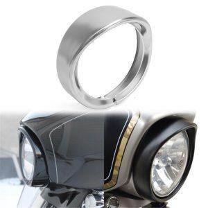 7 inch Headlight Headlamp Trim Ring Protect Guard Cover Cap Chrome