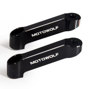 2pcs Mirrors Riser Extender Adaptor Aluminum 10mm Clockwise Thread Motorcycle Bike Universal