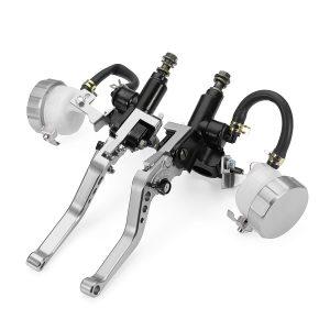 7/8inch CNC Motorcycle Hydraulic Brake Clutch Master Cylinder Lever Reservoir