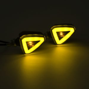 12V Motorcycles LED Turn Signal Indicator Lights Running Daytime Light Universal