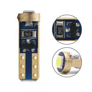 Motorcycle Car LED Instrument Dash Light T5-1SMD-3030 Odometer Lamp Indicator