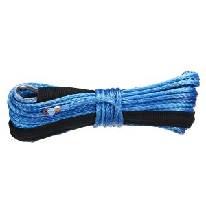 15m 5500LBs Winch Rope String Line Cable With Sheath Synthetic Towing Rope Car Wash Maintenance String For ATV UTV Off-Road Motorcycle