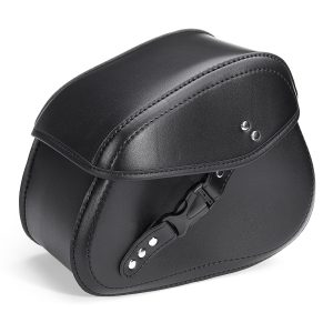 Universal Motorcycle PU Leather Small Saddlebags Side Storage Tool Bag For Harley