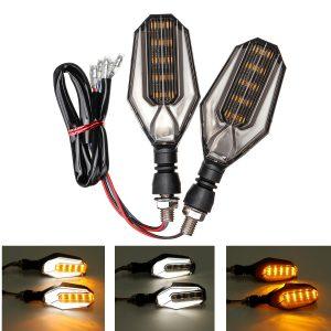 12V Motorcycle 30 LED Amber Turn Signal Lights DRL Daytime Runnning Lamp Universal