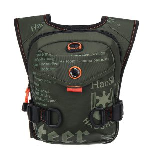 Nylon Drop Waist Leg Drop Bag for Men Fashion Riding Fanny Pack Military Rider Travel Men Messenger Shoulder Bag