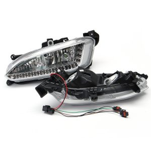 2Pcs LED Daytime Running Fog Lights Lamps DRL 6500K For Hyundai IX45 Santa Fe 2013-2015