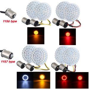 2pcs Motorcycle LED Brake Tail Light Turn Signal Lamp Bulbs 1156 / 1157 For Harley