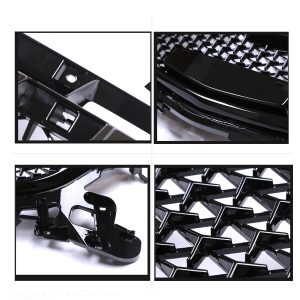 Front Bumper Grille Upper Grill Cover Protector ABS Plastic Car Styling For Mazda 3 Axela 2017 2018