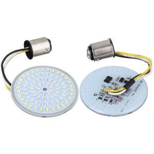 Motorcycle LED Bullet Style Tail Turn Signal Light Blinker Bulb 1156 1157 For Harley