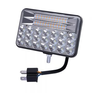 10x16CM LED Work Light Car H4 Headlight Driving Fog Lamp Dual Color for JEEP Offroad Truck Trailer ATV Tractor
