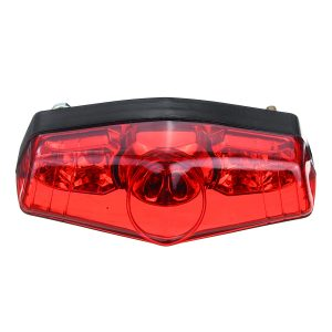 DC12V Red LED Universal Motorcycle ATV Dirt Bike Brake Stop Running Tail Light Without Bracket
