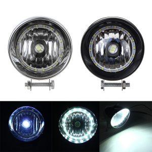 Black / Chrome LED Motorcycle Bullet Headlights High/Low Beam Head Light Lamp