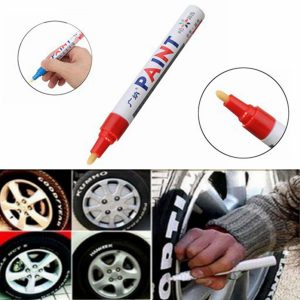 2Pcs Red Color Tyre Permanent Paint Pen Tire Metal Outdoor Marking Ink Marker Trendy