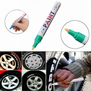 2Pcs Green Color Tyre Permanent Paint Pen Tire Metal Outdoor Marking Ink Marker Trendy