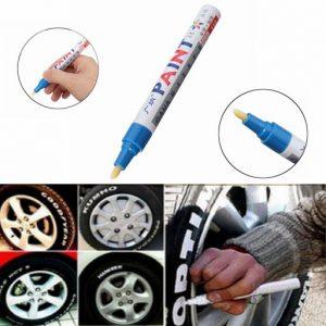 2Pcs Blue Color Tyre Permanent Paint Pen Tire Metal Outdoor Marking Ink Marker Trendy