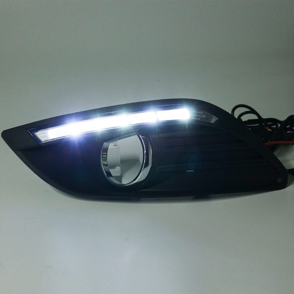 LED DRL Daytime Running Lights Lamp White with Wiring Pair For Ford Focus 2008-2013