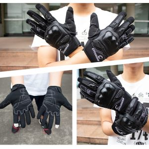 SOMAN CG668 Touch Screen Full Finger Gloves Motorcycle Military Tactical Airsoft Hard Knuckle