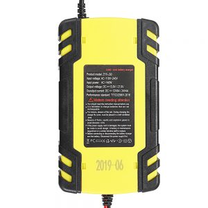 Enusic 12/24V 8A/4A Touch Screen Pulse Repair LCD Battery Charger For Car Motorcycle Lead Acid Battery Agm Gel Wet