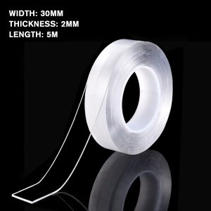 1/2/3/5M Transparent Double Sided Nano PU Gel Tape Anti-slip Fixed Adhesive 30mm