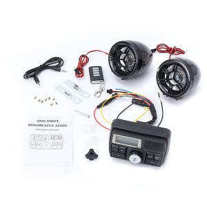 3 in 1 Motorcycle Stereo Speaker Audio SB SD Music MP3 Anti-theft Alarm System