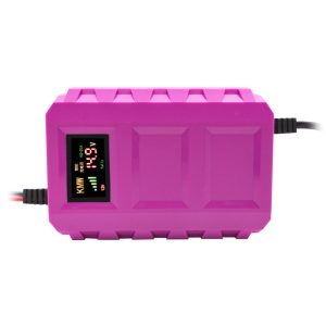 US/EU 12V Pulse Repair Battery Charger LCD Intelligent Automobile Motorcycle Car