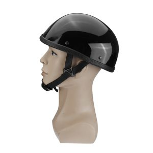 M/L/XL DOT Motorcycle German Style Half Face Helmet Motocross Scooter Glossy Black