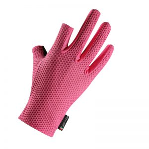 2 Cut Finger Anti-Slip Ice Silk Fishing Motorcycle Scooter Gloves Waterproof Breathable