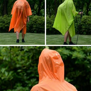Naturehike 270T/20D 3 in 1 Raincoat Waterproof Backpack Cover Outdoor Awning Camping Mini Tarp Sun Shelter