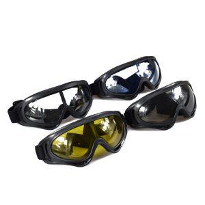 GHOST RACING Motorcycle Retro Racing Goggles Wind Dust Proof ATV Sunglasses Black Frame