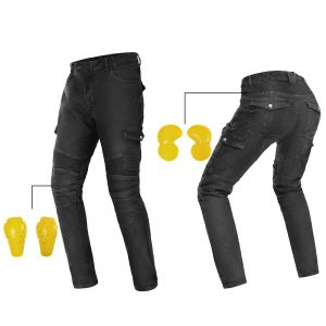 GHOST RACING Motorcycle Pants Men Jeans Protective Gear Riding Trousers With Hip Protection+Knee Pads