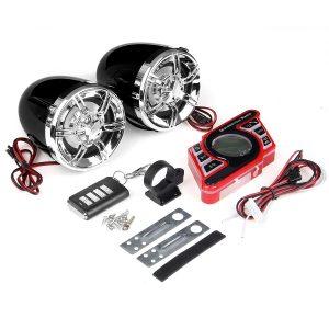 Black Motorcycle Handlebar bluetooth 5.0 Audio System FM Radio Stereo Amplifier Speaker