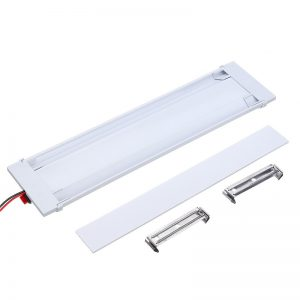 Car 72 LEDS 3 Row Indoor Ceiling Light Compartment Lamp With Switch White Light For Trailer Truck General 12v/24v