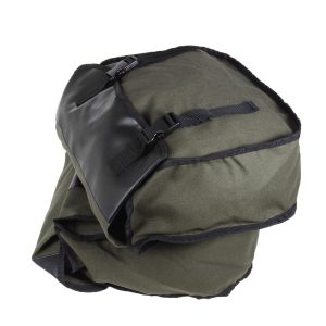 26L Motorcycle Canvas Saddlebags Bike Luggage Bag Travel Riding Army Green
